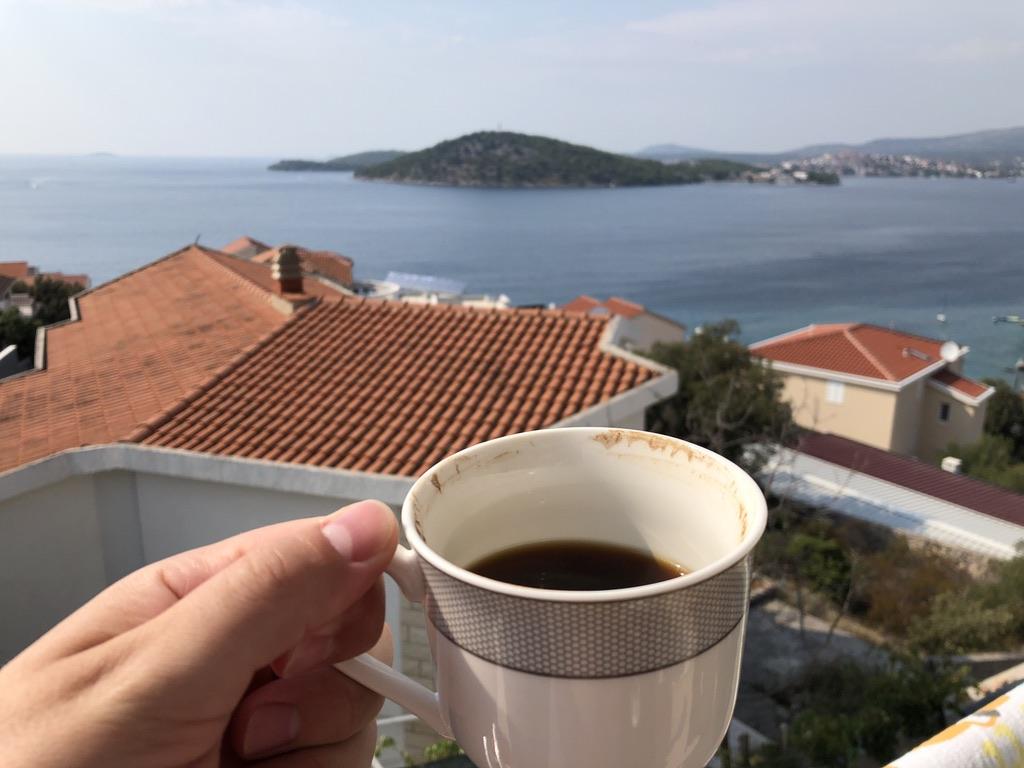 Chorwacja, kawa, wypoczynek, wakacje
